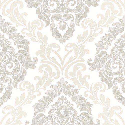 Non-Woven Wallpaper Baroque white Glossy Rasch Textil 104930 online kaufen