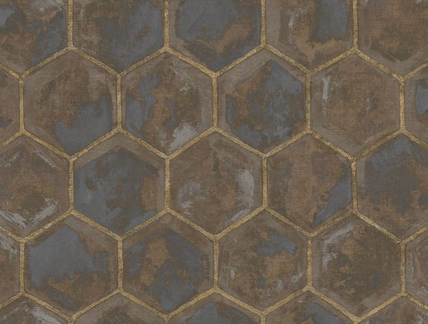 Non-Woven Wallpaper Combs brown Glossy 107607 online kaufen