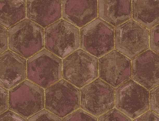Non-Woven Wallpaper Combs brown Glossy 107608 online kaufen