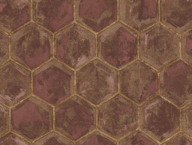 Non-Woven Wallpaper Combs brown Glossy Rasch Textil 107608 online kaufen