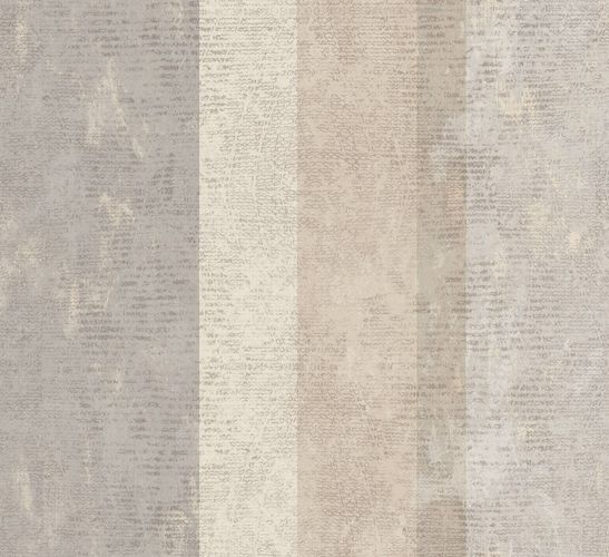 Ambrosia Vliestapete Streifen beige grau glanz 107631 online kaufen