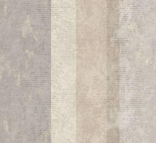 Non-Woven Wallpaper Stripes beige Glossy 107631 online kaufen