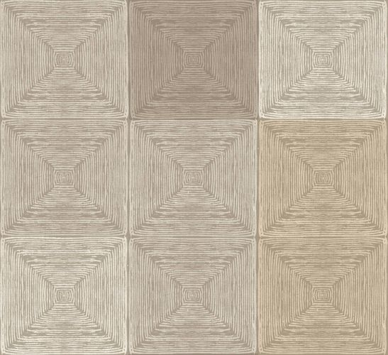 Non-Woven Wallpaper Tiles brown Glossy 107652 online kaufen