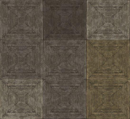 Ambrosia Vliestapete Holzkacheln grau messing glanz 107659 online kaufen