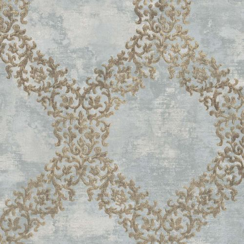 Non-woven Wallpaper Ornament blue grey 109846 online kaufen