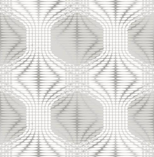 Vliestapete Spiegelfolie Grafik grau 022628