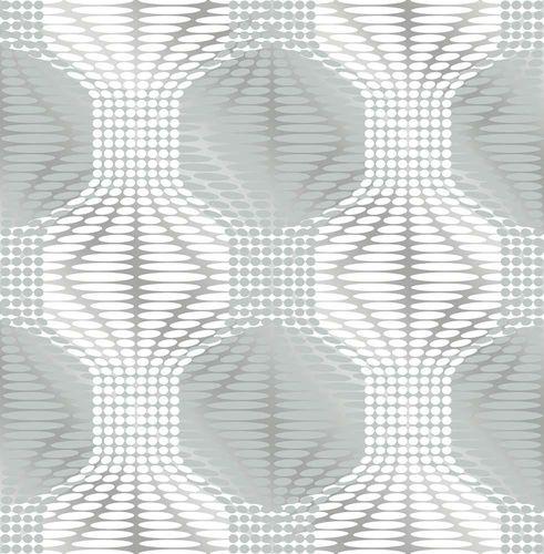 Vliestapete Spiegelfolie Grafik blaugrau 022629 online kaufen