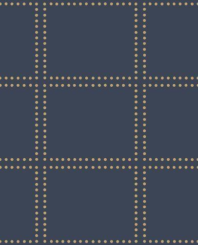 Wallpaper tiles dots blue metallic World Wide Walls 022644