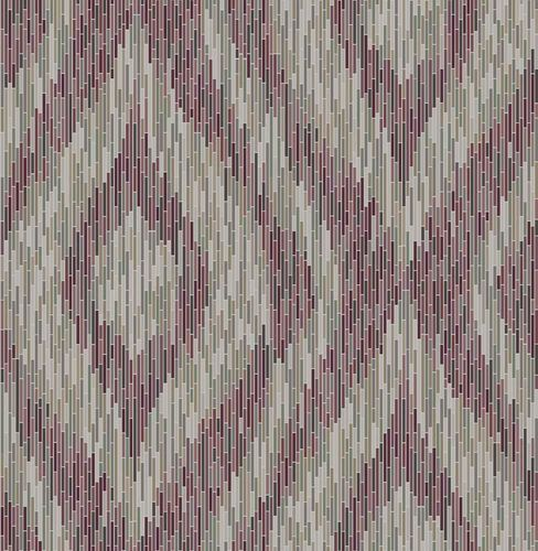 Wallpaper boho stripes violet mirror foil 024218