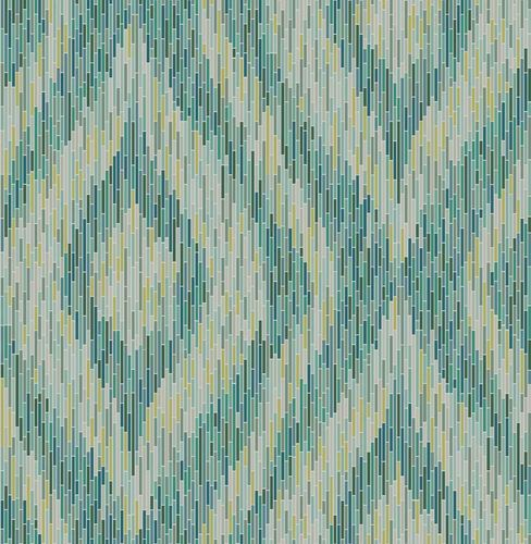 Wallpaper boho stripes green mirror foil 024219
