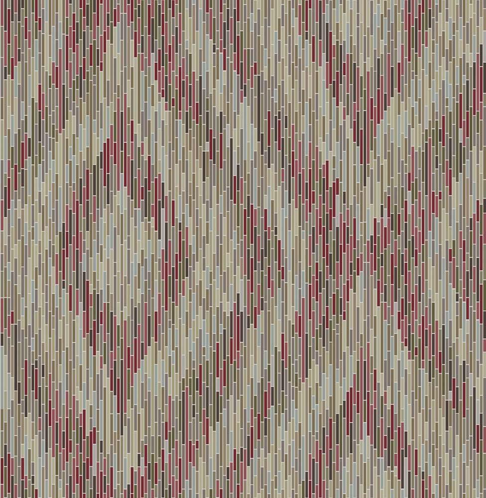 wallpaper boho stripes red mirror foil rasch textil 024220 001 - Boho Muster