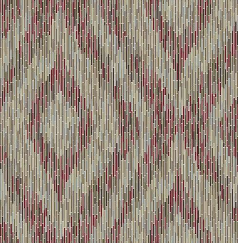Wallpaper boho stripes red mirror foil 024220