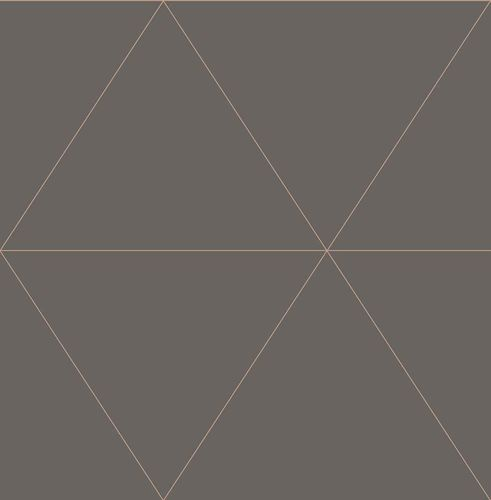 Wallpaper triangles graphic brown metallic 024224 online kaufen