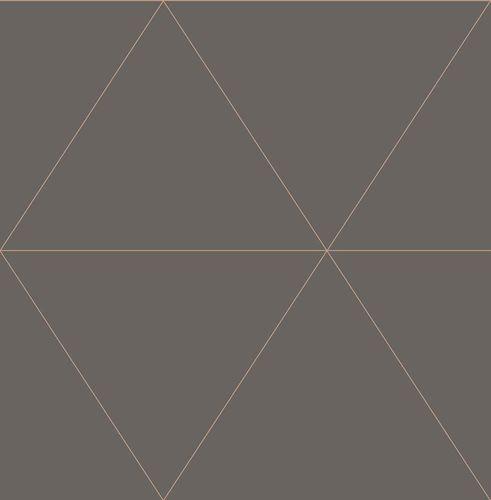 Wallpaper triangles graphic brown metallic 024224