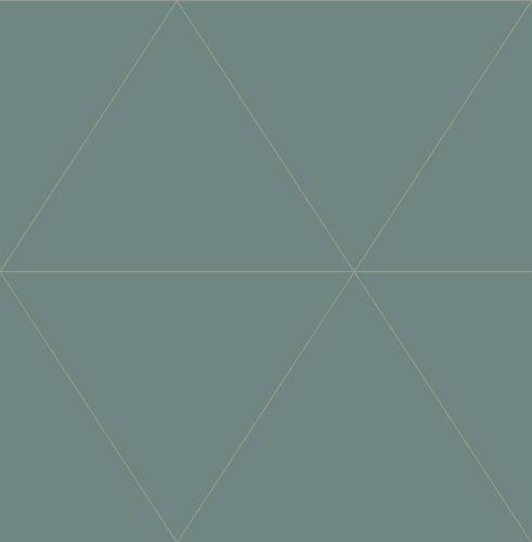 Vliestapete Dreiecke grün Metallic World Wide Walls 024225 online kaufen