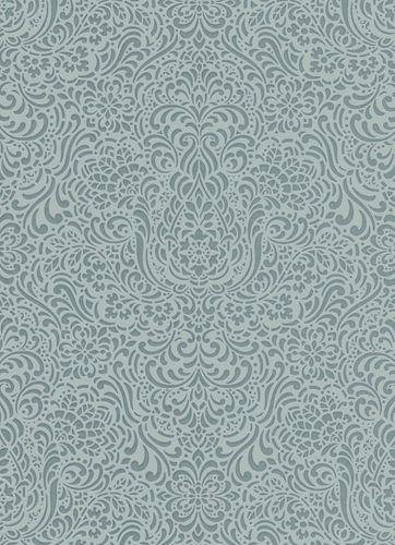 Vliestapete Ornament türkis Glanz Erismann 5413-19