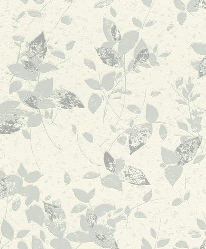 Non-Woven Wallpaper floral cream blue glitter Rasch 402520