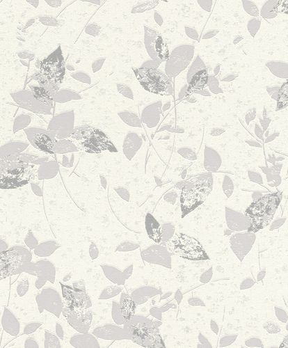 Non-Woven Wallpaper floral cream grey glitter Rasch 402537