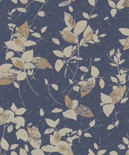 Non-Woven Wallpaper floral blue beige glitter Rasch 402544 online kaufen