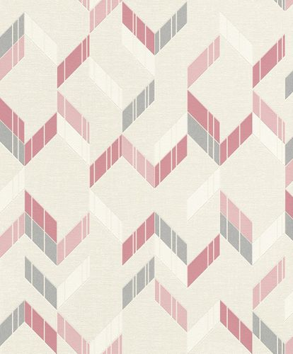 Non-Woven Wallpaper 3D spikes beige rose gloss Rasch 402827