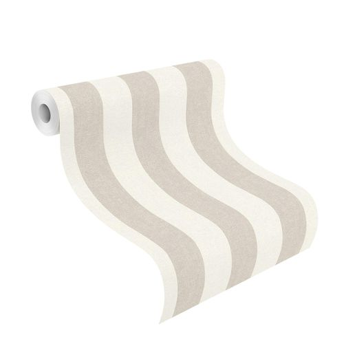 Non-Woven Wallpaper striped beige white Rasch 402902 online kaufen