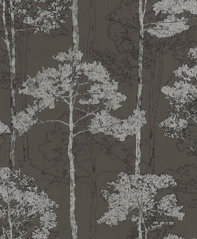 3,12€//1qm Vlies Tapete Baum Natur anthrazit silber Rasch Hyde Park 410839