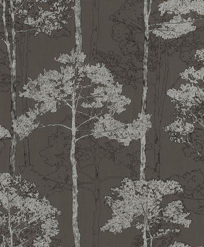 Non-Woven Wallpaper Rasch tree floral anthracite 410839 online kaufen