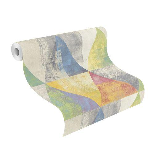Non-Woven Wallpaper Rasch triangle vintage colourful 410914 online kaufen