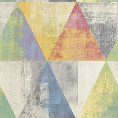 Non-Woven Wallpaper Rasch triangle vintage colourful 410914