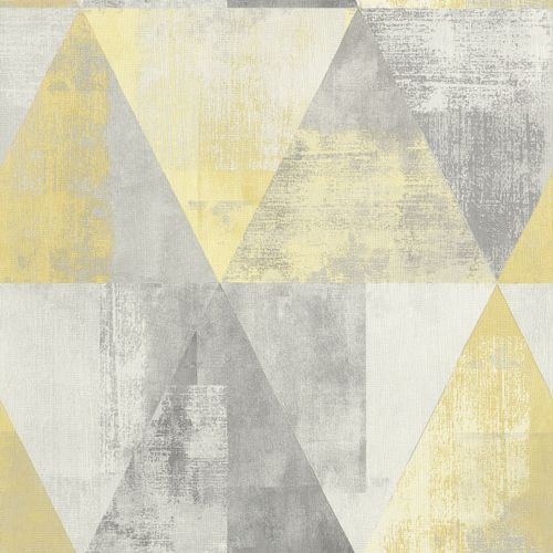 Non-Woven Wallpaper Rasch triangle vintage yellow 410921