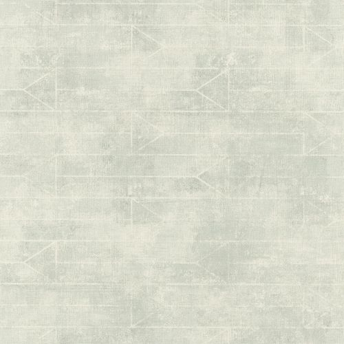 Non-Woven Wallpaper Rasch triangle graphic grey green 412024 online kaufen