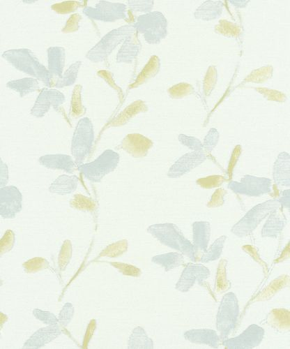 Wallpaper aquarelle flower white grey Erismann 6347-07