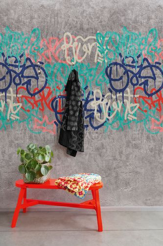 Non-Woven Digital Print Wallpaper grafitti street | A35201