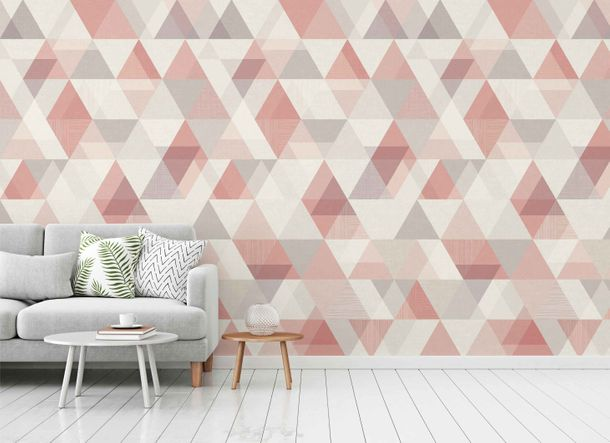 Non-Woven Digital Print Wallpaper chevron triangle | IW2402