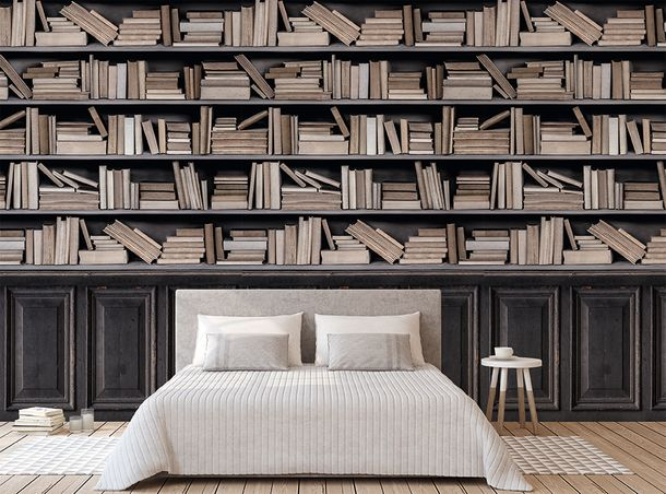 Non-Woven Digital Print Wallpaper vintage books | A36801 online kaufen