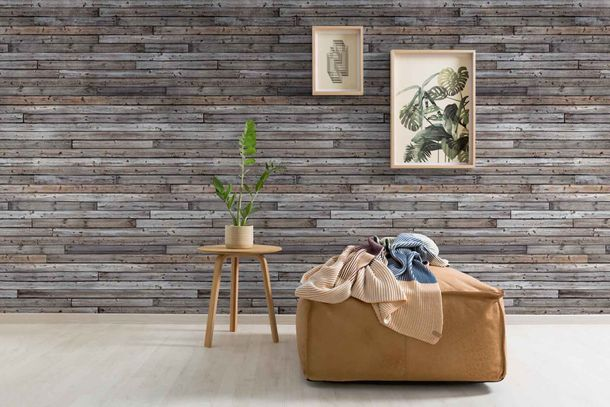 Non-Woven Digital Print Wallpaper wooden boards | A34801 online kaufen