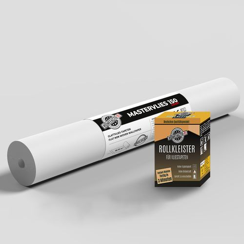 1x Paintable Lining Paper Mastervlies Expert + Wallpaper Paste