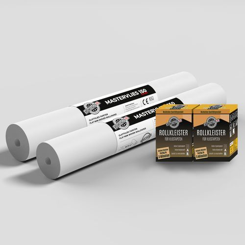 2x Paintable Lining Paper Mastervlies Expert + Wallpaper Paste online kaufen