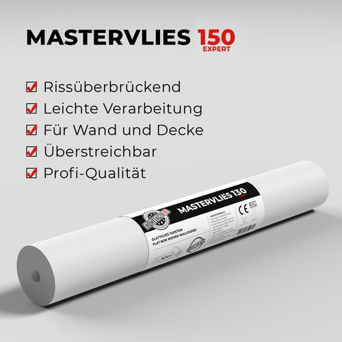 4x Paintable Lining Paper Mastervlies Expert + Wallpaper Paste online kaufen