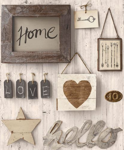 Wallpaper wood letter grey cream GranDeco Facade FC2002 online kaufen