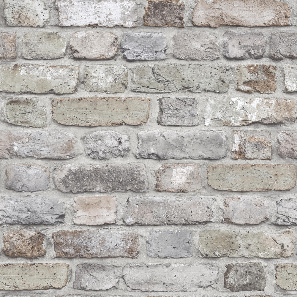 Wallpaper 3d Stone Wall Grey Grandeco Facade Fc2501
