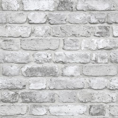 Wallpaper 3D stone wall white grey GranDeco Facade FC2503
