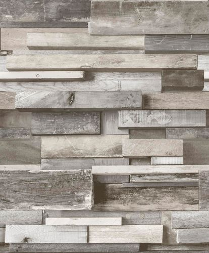 Wallpaper 3D wooden cream grey GranDeco Facade FC3001 online kaufen