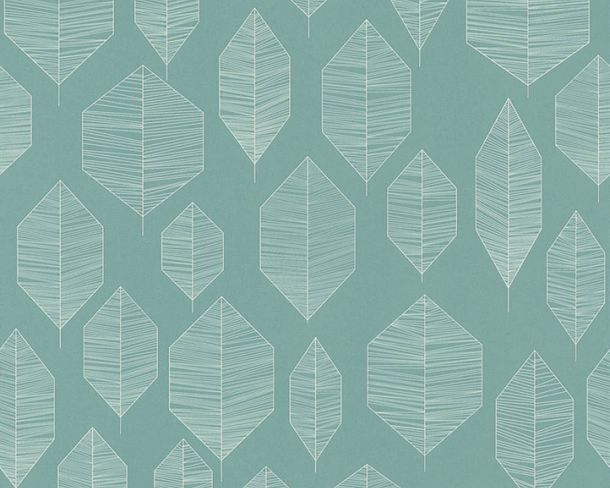 Non-Woven Wallpaper Leaves green livingwalls 36209-4