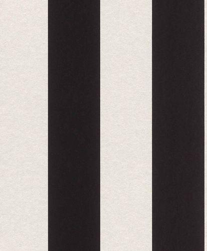 Vliestapete Blockstreifen Klassisch schwarz weiß 361727
