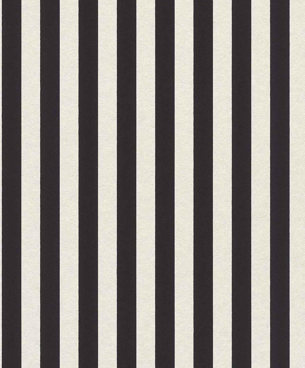 vliestapete streifen schmal schwarz wei glanz 361819. Black Bedroom Furniture Sets. Home Design Ideas