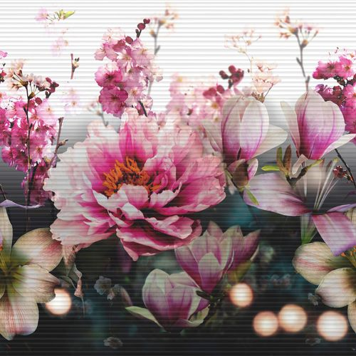 Bordüre Vlies Asia Floral pink Bunt Arthouse 293209