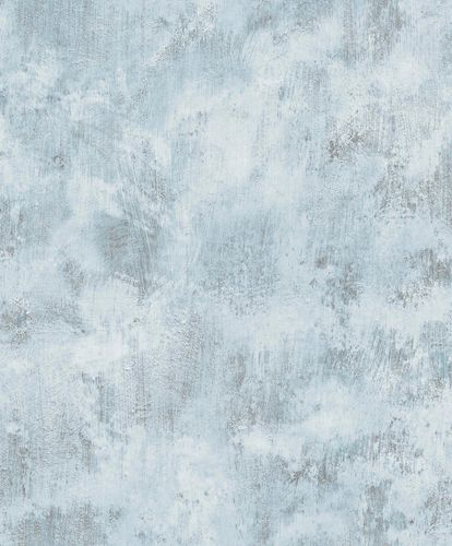 Non-Woven Wallpaper vintage marble-effect blue EP1004