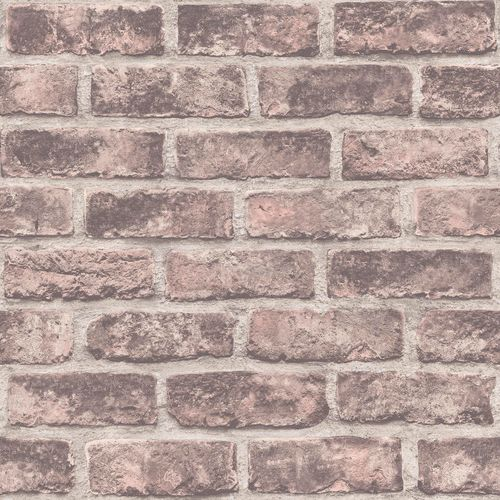 Non-Woven Wallpaper brick wall stones brown rose EP2303