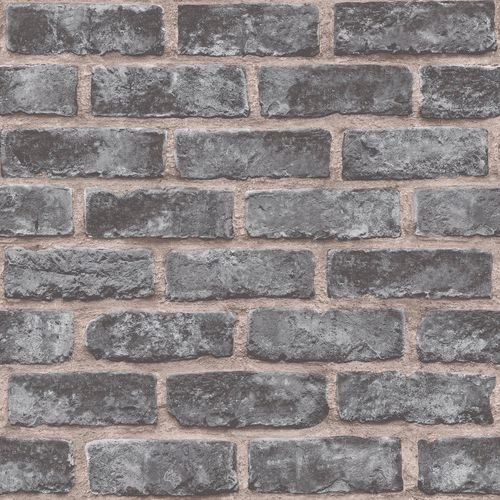 Non-Woven Wallpaper brick wall stones anthracite EP2304